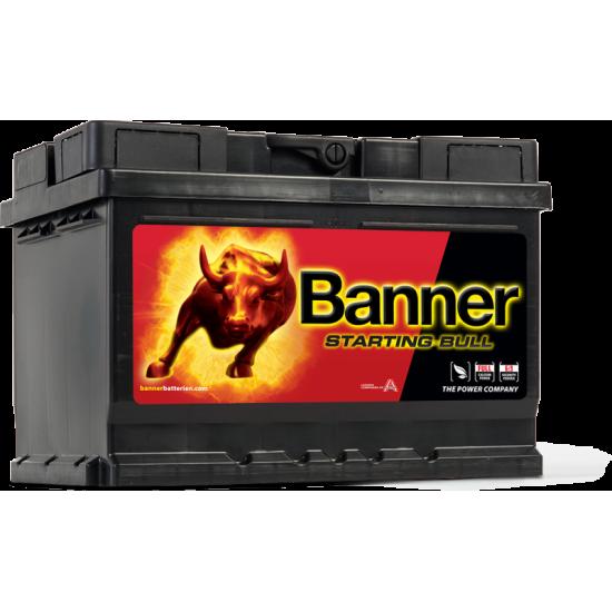 Μπαταρία Banner 56009 STARTING BULL 12V | 60AH / Volt:12 / EN:480 / Πολικότητα: Δεξιά το +