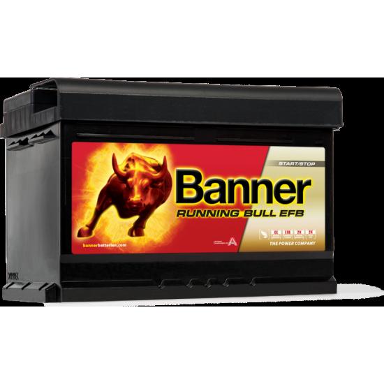 Μπαταρία Banner 56512 RUNNING BULL - EFB | 65AH / Volt:12 / EN:650 / Πολικότητα: Δεξιά το +