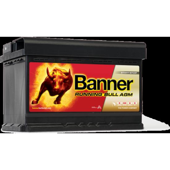 Μπαταρία Banner 57001 RUNNING BULL - AGM | 70AH / Volt:12 / EN:720 / Πολικότητα: Δεξιά το +