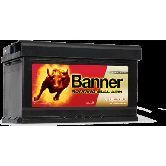 Μπαταρία Banner 58001 RUNNING BULL - AGM | 80AH / Volt:12 / EN:800 / Πολικότητα: Δεξιά το +