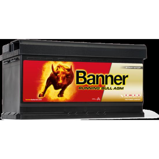 Μπαταρία Banner 59201 RUNNING BULL - AGM | 92AH / Volt:12 / EN:850 / Πολικότητα: Δεξιά το +