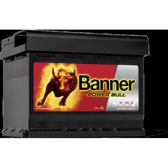 Μπαταρία Banner P6219 POWER BULL | 62AH / Volt:12 / EN:550 / Πολικότητα: Δεξιά το +