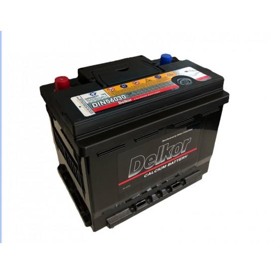 Μπαταρία Delkor 56030  12V | 60AH / Volt:12 / DIN:255 / Πολικότητα: Δεξιά το +