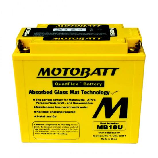 Μπαταρία MOTOBATT MB18U - GEL | 23AH / Volt:12 / EN:280 / Πολικότητα: Αριστερά και Δεξιά +