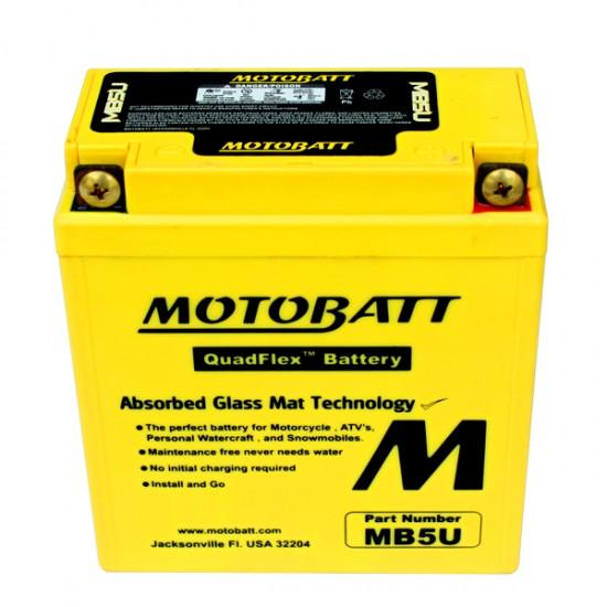Μπαταρία MOTOBATT MB5U - GEL | 7AH / Volt:12 / EN:105 / Πολικότητα: Αριστερά και Δεξιά +