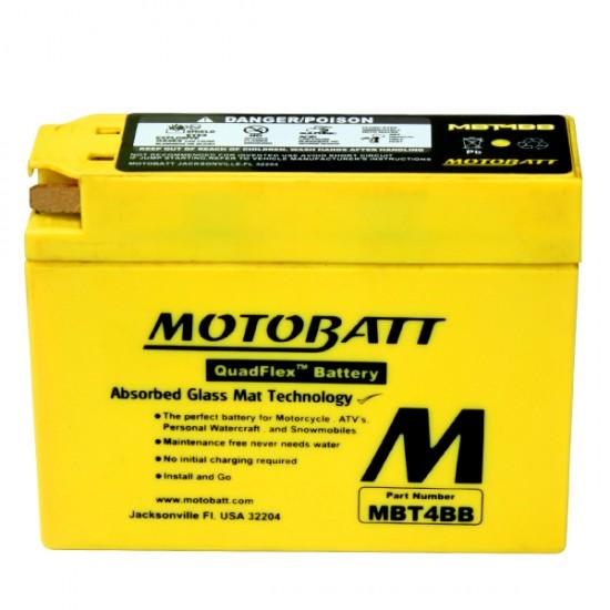Μπαταρία MOTOBATT MBT4BB - GEL | 2,5AH / Volt:12 / EN: / Πολικότητα: Αριστερά και Δεξιά +