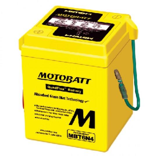 Μπαταρία MOTOBATT MBT6N4 - GEL | 4AH / Volt:12 / EN: / Πολικότητα: Αριστερά και Δεξιά +