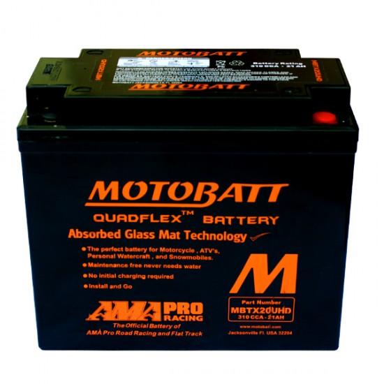 Μπαταρία MOTOBATT MBTX20U HD - GEL | 21AH / Volt:12 / EN:310 / Πολικότητα: Αριστερά και Δεξιά +
