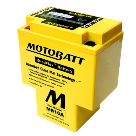 Μπαταρία MOTOBATT MB16A - GEL | 18AH / Volt:12 / EN:200 / Πολικότητα: Αριστερά και Δεξιά +