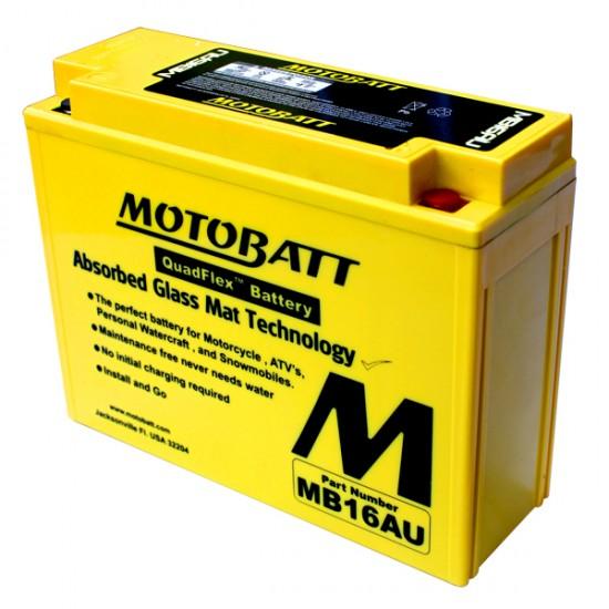 Μπαταρία MOTOBATT MB16AU - GEL | 21AH / Volt:12 / EN:230 / Πολικότητα: Αριστερά και Δεξιά +