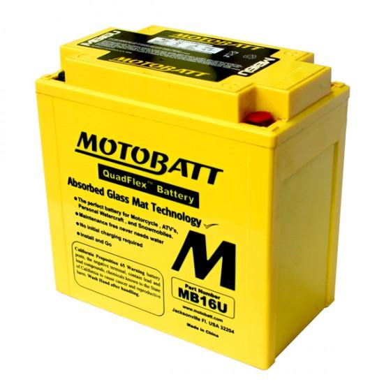 Μπαταρία MOTOBATT MB16U - GEL   20AH / Volt:12 / EN:240 / Πολικότητα: Αριστερά και Δεξιά +