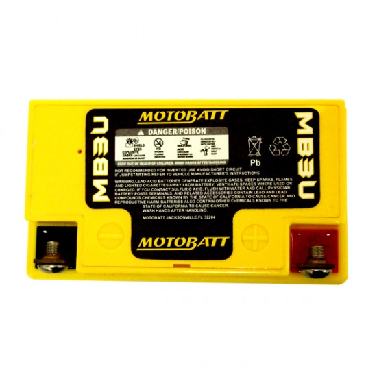 Μπαταρία MOTOBATT MB3U - GEL | 3,8AH / Volt:12 / EN:40 / Πολικότητα: Αριστερά και Δεξιά +