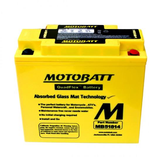 Μπαταρία MOTOBATT MB51814 - GEL | 22AH / Volt:12 / EN:260 / Πολικότητα: Αριστερά και Δεξιά +