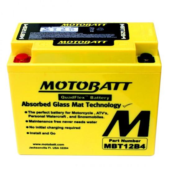 Μπαταρία MOTOBATT MBT12B4 - GEL | 11AH / Volt:12 / EN:175 / Πολικότητα: Αριστερά και Δεξιά +