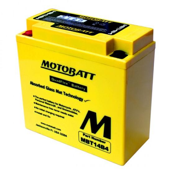 Μπαταρία MOTOBATT MBT14B4 - GEL | 13AH / Volt:12 / EN:210 / Πολικότητα: Αριστερά και Δεξιά +