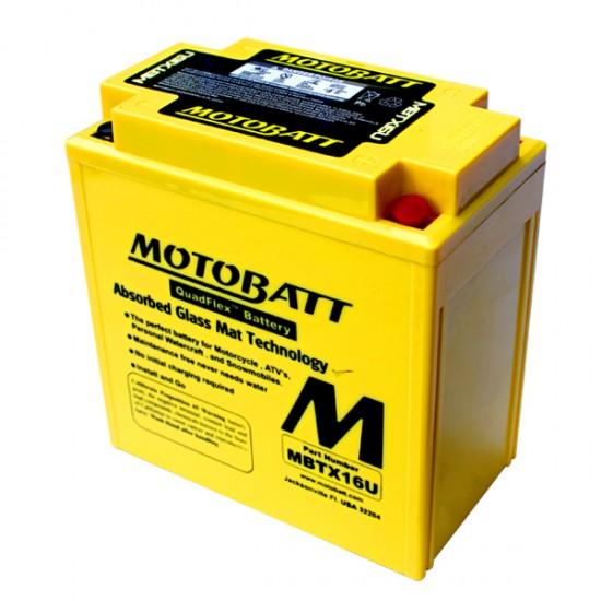 Μπαταρία MOTOBATT MBTX16U - GEL | 19AH / Volt:12 / EN:250 / Πολικότητα: Αριστερά και Δεξιά +