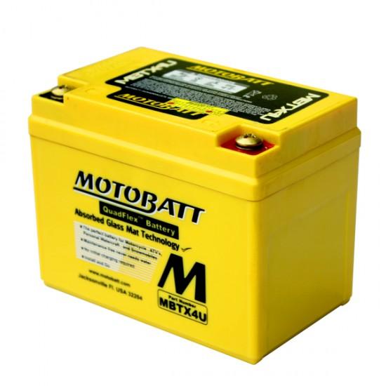Μπαταρία MOTOBATT MBTX4U - GEL | 4,7AH / Volt:12 / EN:70 / Πολικότητα: Αριστερά και Δεξιά +