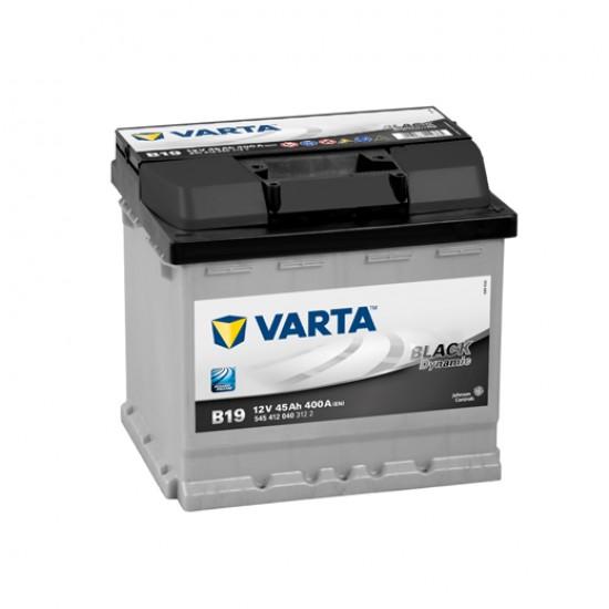 Μπαταρία Varta B19 BLACK Dynamic | 545 412 040 | 45AH / Volt:12 / EN:400 / Πολικότητα: Δεξιά το +