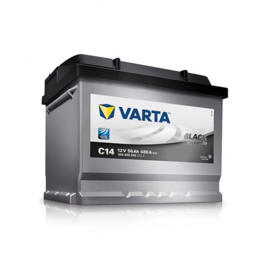 Μπαταρία Varta C14 BLACK Dynamic | 556 400 048 | 56AH / Volt:12 / EN:480 / Πολικότητα: Δεξιά το +