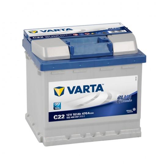 Μπαταρία Varta C22 Blue Dynamic | 552 400 047 | 52AH / Volt:12 / EN:470 / Πολικότητα: Δεξιά το +