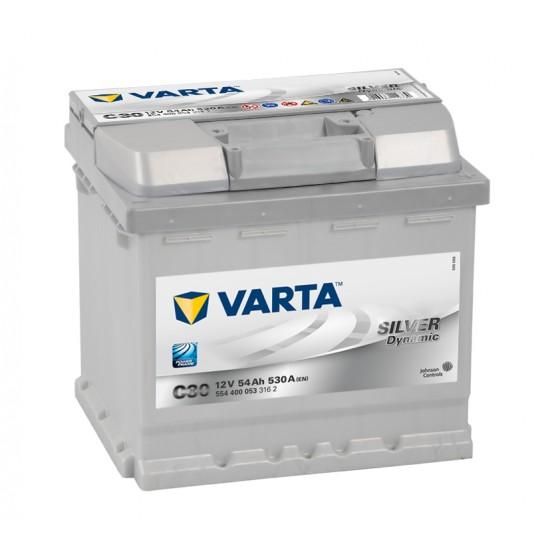 Μπαταρία Varta C30 SILVER Daynamic | 554 400 053 | 54AH / Volt:12 / EN:530 / Πολικότητα: Δεξιά το +