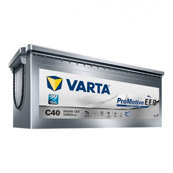 Μπαταρία Varta C40 ProMotive EFB | 740 500 120 | 240AH / Volt:12 / EN:1200 / Πολικότητα: Αριστερά το + (Πλάι)