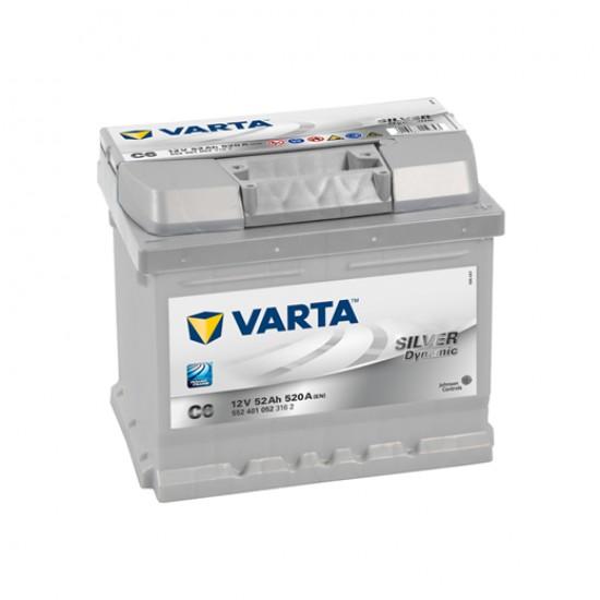 Μπαταρία Varta C6 SILVER Daynamic | 552 401 052 | 52AH / Volt:12 / EN:520 / Πολικότητα: Δεξιά το +