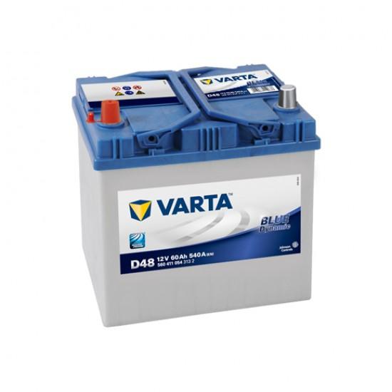 Μπαταρία Varta D48 Blue Dynamic | 560 411 054 | 60AH / Volt:12 / EN:540 / Πολικότητα: Αριστερά το +