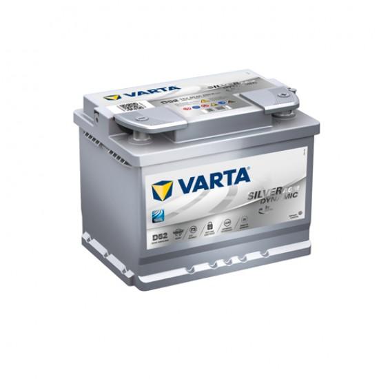 Μπαταρία Varta D52 SILVER Daynamic - AGM | 560 901 068 | 60AH / Volt:12 / EN:680 / Πολικότητα: Δεξιά το +