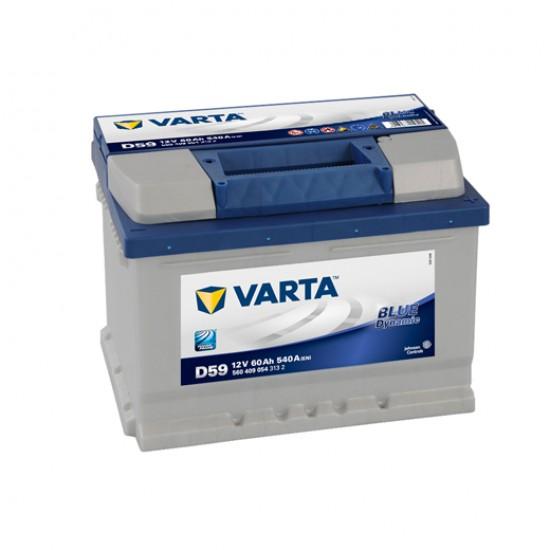 Μπαταρία Varta D59 Blue Dynamic | 560 409 054 | 60AH / Volt:12 / EN:540 / Πολικότητα: Δεξιά το +
