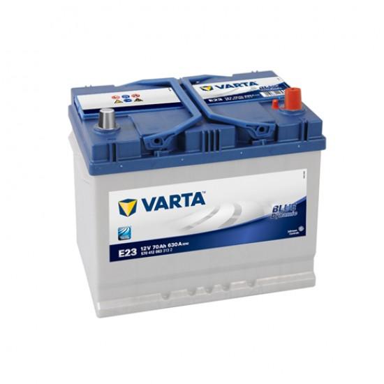 Μπαταρία Varta E23 Blue Dynamic | 570 412 063 | 70AH / Volt:12 / EN:630 / Πολικότητα: Δεξιά το +