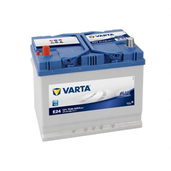 Μπαταρία Varta E24 Blue Dynamic | 570 413 063 | 70AH / Volt:12 / EN:630 / Πολικότητα: Αριστερά το +