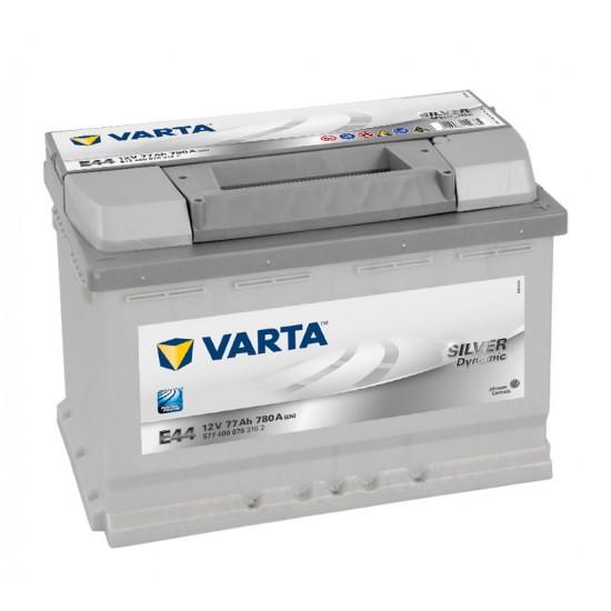 Μπαταρία Varta E44 SILVER Daynamic | 577 400 078 | 77AH / Volt:12 / EN:780 / Πολικότητα: Δεξιά το +