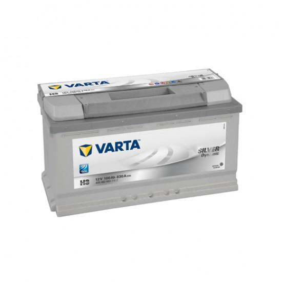 Μπαταρία Varta H3 SILVER Daynamic | 600 402 083 | 100AH / Volt:12 / EN:830 / Πολικότητα: Δεξιά το +