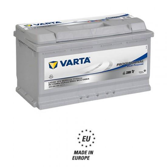 Μπαταρία Varta LFD90 Profesional Marine | 930 090 080 | 90AH / Volt:12 / EN: 800 / Πολικότητα: Δεξιά το +